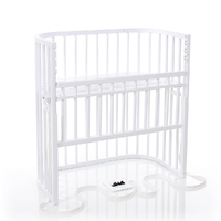 Berceau cododo Babybay Boxspring Comfort - Laqué blanc