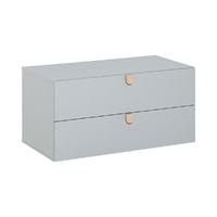 Commode 2 tiroirs Vox Stige - Gris