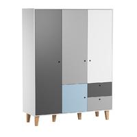 Armoire 3 portes Vox Concept - Bleu
