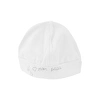 Bonnet pour bébé 0 à 6 Mois blanc et gris - J'aime mon papa