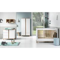 Chambre complète lit bébé 60x120 - commode à langer - armoire 2 portes Vox Altitude - Blanc
