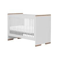Lit bébé 60x120 Pinio Snap - Blanc et bois