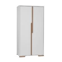 Armoire 2 portes Pinio Snap - Blanc et bois