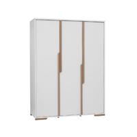 Armoire 3 portes Pinio Snap - Blanc et bois