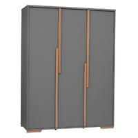 Armoire 3 portes Pinio Snap - Gris et bois