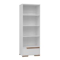 Bibliothèque Pinio Snap - Blanc et bois