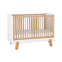 Lit bébé 60x120 Pinio Iga - Blanc et bois