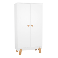 Armoire 2 portes Pinio Iga - Blanc et bois