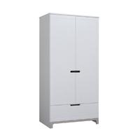 Armoire 2 portes Pinio Mini - Blanc et gris
