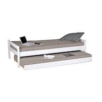 Lit gigogne - 2 sommiers - 1 tiroir-lit 90x200 Weber Industries Justin - Blanc