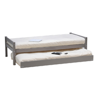 Lit gigogne - 2 sommiers - 1 tiroir-lit 90x190 Weber Industries Justin - Gris