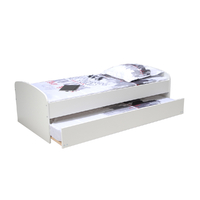 Lit gigogne - 2 sommiers - 1 tiroir-lit 90x190 Weber Industries Swing - Blanc