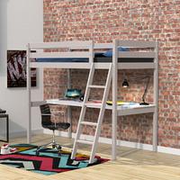 Lit mezzanine 90x190 - bureau - Weber Industries Aspen - Gris