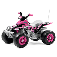 Quad 1 place Peg Perego 12 Volts - T Rex Rose