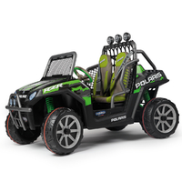 Voiture 2 places Peg Perego 24 Volts - Polaris Ranger RZR Green Shadow