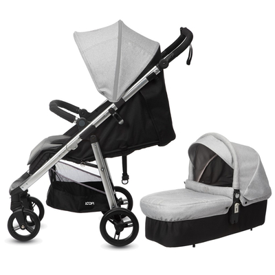 Poussette Duo Casual Play Loopi City Cot - Rhino