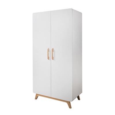 Armoire 2 portes Twf Iglo - Blanc et bois