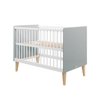 Lit bébé 60x120 Bopita Emma - Blanc et gris