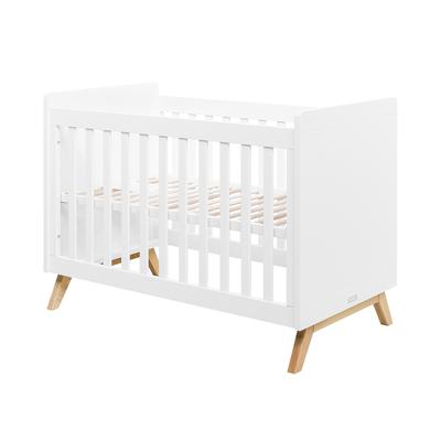 Lit bébé 60x120 Bopita Fenna - Blanc et bois naturel