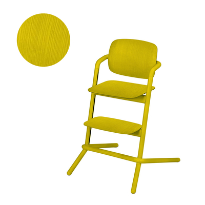 Chaise haute Cybex Lemo bois - Canary Yellow