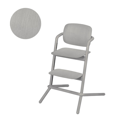 Chaise haute Cybex Lemo bois - Storm Grey