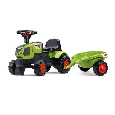 Porteur Falk Tracteur Baby Claas avec remorque - Vert