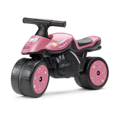 Porteur Falk Baby Moto Rainbow Star - Rose