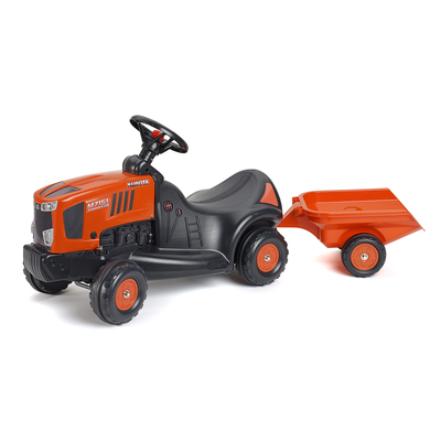 Porteur Falk Tracteur Kubota avec remorque - Orange