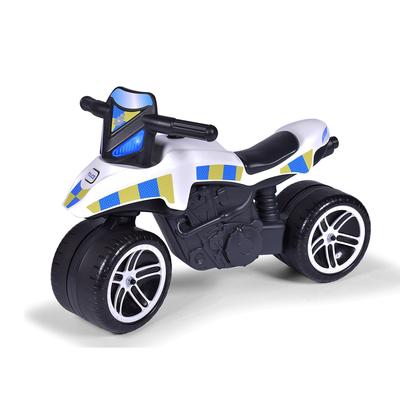 Porteur Falk Moto Police - Blanc et Bleu