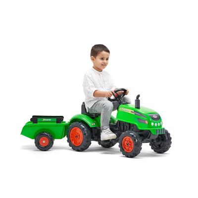 2048AB_falk_tracteur_pedales_tractor_vert_capot_ouvrant_remorque_2