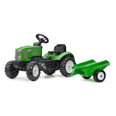 Tracteur à pédales Falk Farm Power avec remorque - Vert