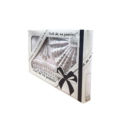 Coffret Parure de draps pour berceau, landau, couffin gris carreaux - Motif Abeille