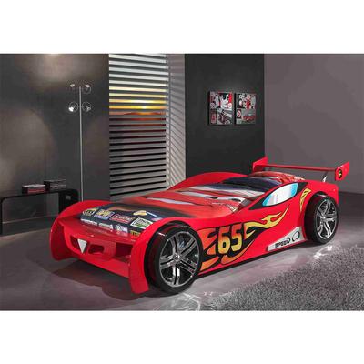 Lit 90x200 Le Mans Sommier inclus Vipack Car beds - Rouge