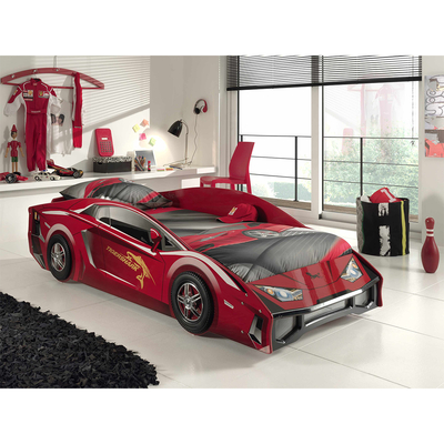 Lit 90x200 Lambo Sommier inclus Vipack Car beds - Rouge