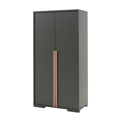 Armoire 2 portes Vipack London - Anthracite