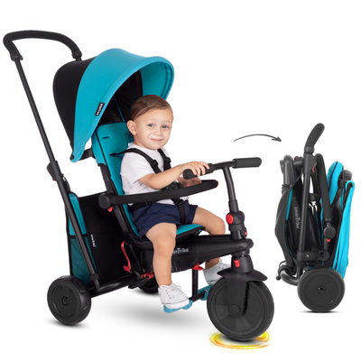 Tricycle Smartrike pliable évolutif 6en1 - SmarTfold 400S Bleu