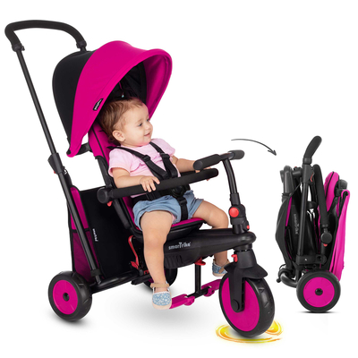 Tricycle Smartrike pliable évolutif 6en1 - STR3 Rose