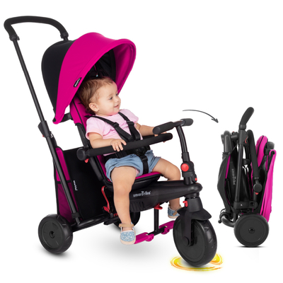 Tricycle Smartrike pliable évolutif 6en1 - SmarTfold 400S Rose