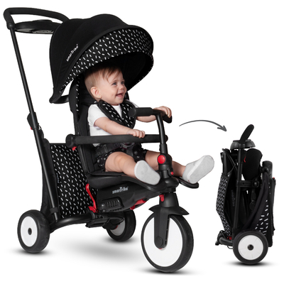 Tricycle Smartrike pliable évolutif 7en1 - STR5 Blanc Noir