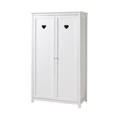 Armoire 2 portes Vipack Amori - Blanc