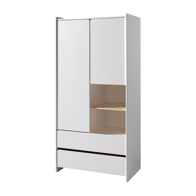 Armoire 2 portes Vipack Kiddy - Blanc