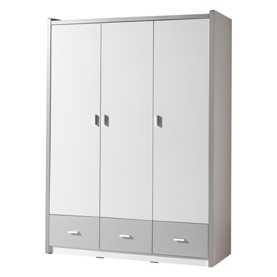 Armoire 3 portes Vipack Bonny - Blanc