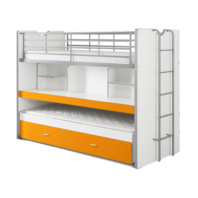 Lit combiné 80 90x200 Sommier Inclus Vipack Bonny - Orange