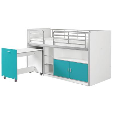 Lit combiné 91 90x200 Sommier Inclus Vipack Bonny - Turquoise