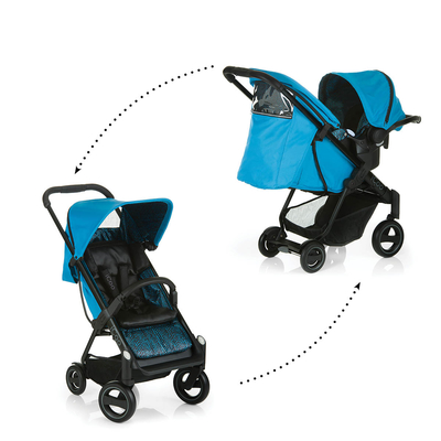 Poussette Combinée iCoo Acrobat Shop and Drive - Fishbone Blue