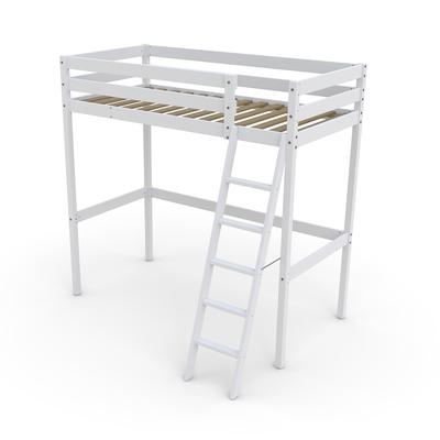 Lit mezzanine 90x190 Weber Industries Studio - Laqué blanc