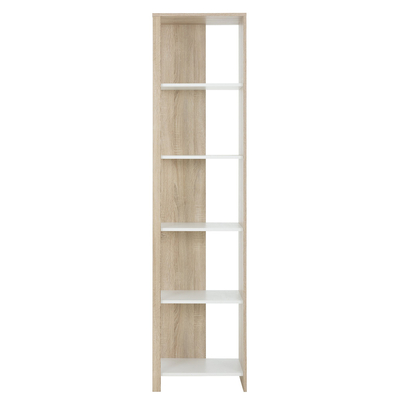 Bibliothèque colonne Gami Kyllian - Chêne et blanc