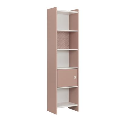 Bibliothèque colonne 1 porte Gami April - Rose
