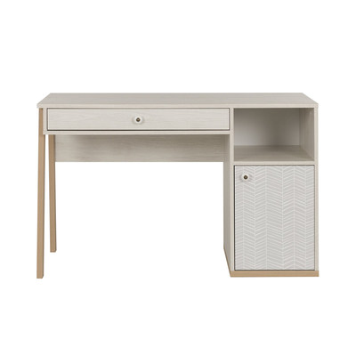 Bureau 1 porte 1 tiroir Gami Alika - Châtaignier blanchi