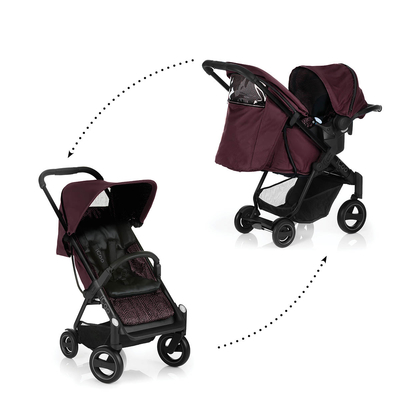Poussette Combinée iCoo Acrobat Shop and Drive - Fishbone Bordeaux